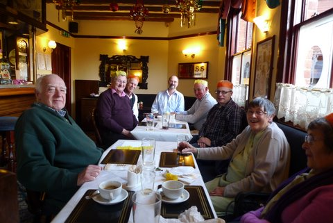 Christmas lunch at the Robin Hood for the diggers and friends December 2011