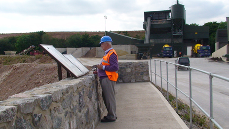 Cloud Hill quarry, LIHS member on viewing platform