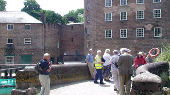 on the guided tour