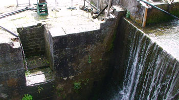 the wheel pit of number 2 mill