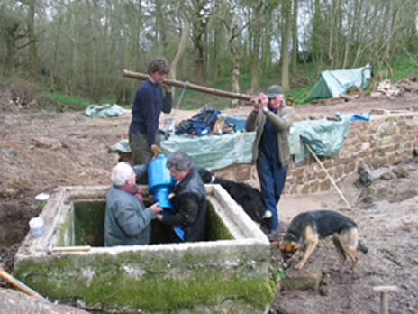 Daniel Hayes Farm, restoring the hydraulic ram pump