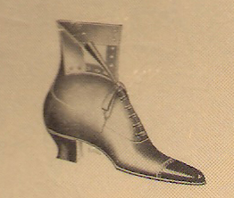 ladies short boot, early 20th century